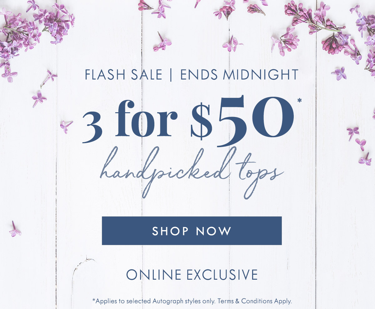 3 For $50 Handpicked Tops