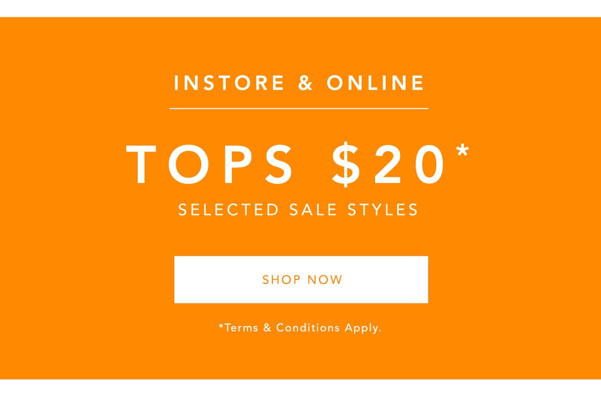 $20 Sale Tops